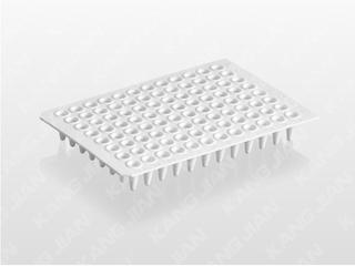 PCR白色无裙边反应板 0.1ml不可拆